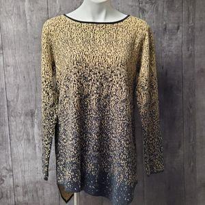 Rafaella XL asymmetric hem tunic sweater